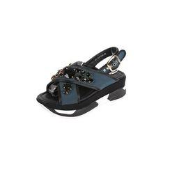 DABAGIRL - Rhinestone-Embellish Platform Sandals