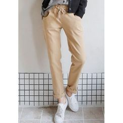GOROKE - Drawstring-Waist Tapered Pants