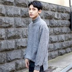 TOMONARI - Mock-Neck Knit Pullover