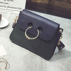 Diamante - Tasseled Faux Leather Shoulder Bag