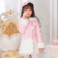 Candy Rain - Kids Woolen Long Coat