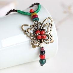 Porcelana - 蝴蝶吊坠项链