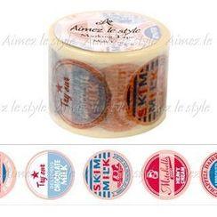 Aimez le style - Aimez le style Masking Tape Wide Milk Cap
