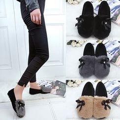 Simply Walk - 內加絨平跟鞋