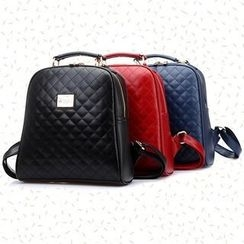 BeiBaoBao - Faux-Leather Quilted Backpack