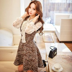 Dabuwawa - Tweed Jumper Dress