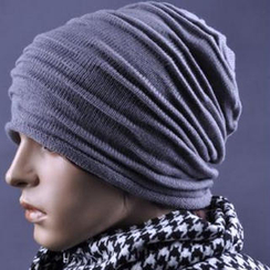 JVL - 飾褶針織無邊帽