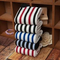 MUMBLE - 细直条纹袜