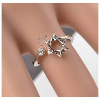 Trend Cool - Rhinestone Hexagram Ring
