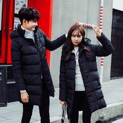 Alvicio - Couple Matching Hooded Padded Coat
