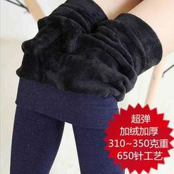 SUYISODA - Fleece-Lined Stirrup Leggings