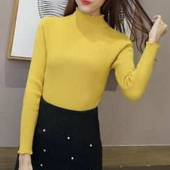 Ashlee - Mock Neck Long Sleeve Knit Top