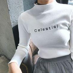 monroll - 字母小高领毛衣