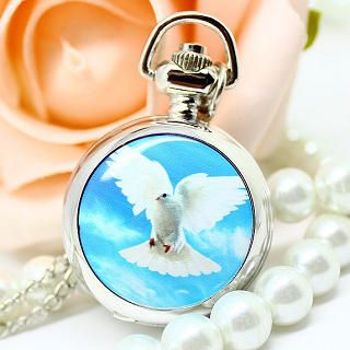 Miss Girl - Pigeon-Print Pocket Watch