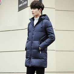 Besto - Hooded Padded Long Coat