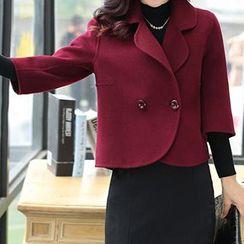 Romantica - 七分袖混羊毛雙扣夾克