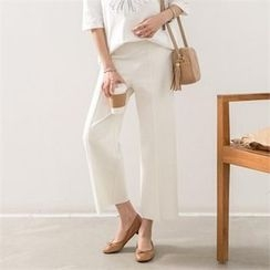 PEPER - Band-Waist Wide-Leg Pants