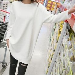 PINKSISLY - Round-Neck Long T-Shirt