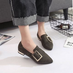 BARCA - Buckle Pointy Loafers
