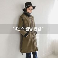 JUSTONE - Drawstring-Waist Zip-Up Coat