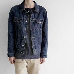 Seoul Homme - Stitched Denim Jacket