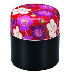 Hakoya - Hakoya Nunobari Tea Caddy S Ume Red