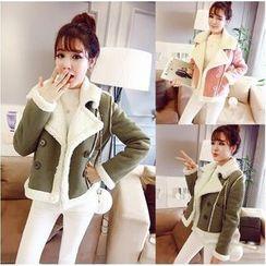 Sienne - Faux Suede Fleece-lined Jacket