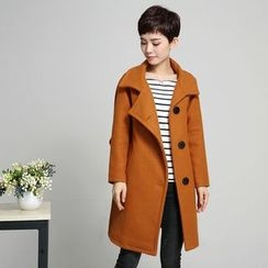 AiSun - Plain Long Woolen Coat