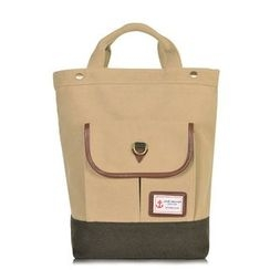 SUPER LOVER - Front Pocket Panel Canvas Backpack