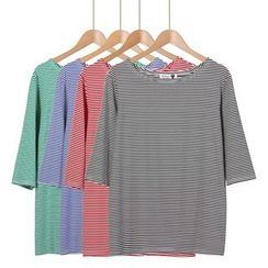 Momewear - Short-Sleeve Striped T-Shirt