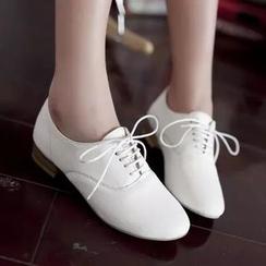 幸福鞋坊 - 純色結帶鞋