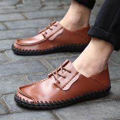 BINSHOU - Genuine-Leather Lace-Up Shoes