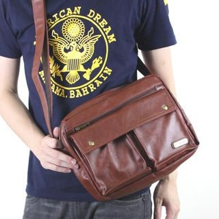 MURATI - Faux-Leather Messenger Bag