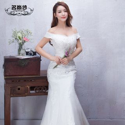 MSSBridal - Off-shoulder Mermaid Wedding Dress