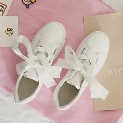 SouthBay Shoes - Ribbon Lace-Up Sneakers