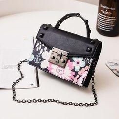 Secret Garden - Faux Leather Crossbody Bag