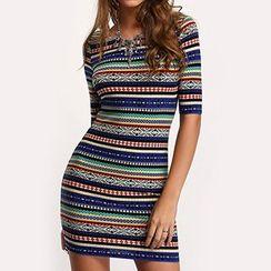 Hanni - Printed Sheath Dress