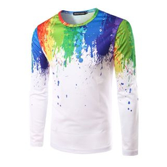 Fireon - Paint Print Long Sleeve T-Shirt