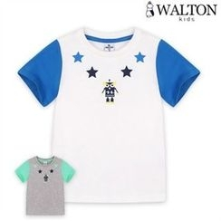 WALTON kids - Kids Color-Block Printed T-Shirt