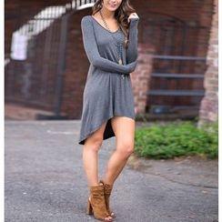Dream a Dream - Long-Sleeve Dip Back Dress
