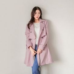 Seoul Fashion - Dual-Breasted Trench Jacket
