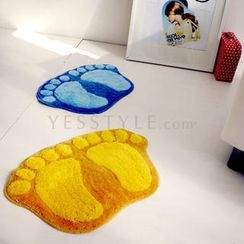 Doodles - Footprint Floor Mat (Yellow/S)