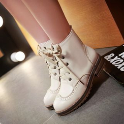 Pretty in Boots - Brogue Short Boots