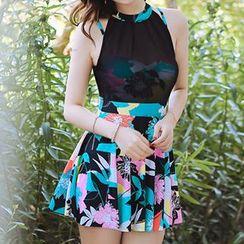 Zeta Swimwear - Floral Print Swimdress