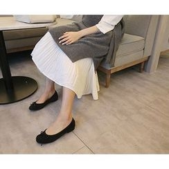 MARSHMALLOW - Zip-Back Pleated Maxi Dress