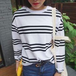 Napkiki - Long-Sleeve Striped T-Shirt