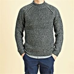THE COVER - Raglan-Sleeve Chunky-Knit Sweater