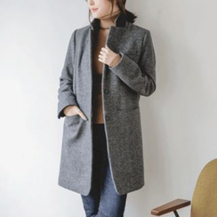 JUSTONE - Notched-Collar Single-Breasted Wool Blend Coat
