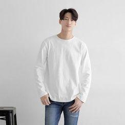 Seoul Homme - Long-Sleeve Plain T-Shirt