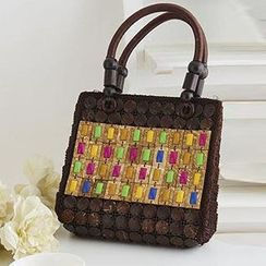 Trava - Coco Shell Hand Beaded HandBag